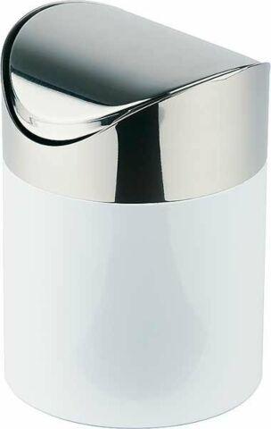 Tischrestebehälter aus weiß lackiertem Metall mit Schwingdeckel-Gastro-Germany