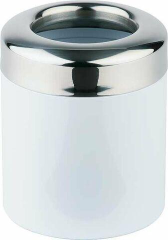 Tischrestebehälter aus weiß lackiertem Metall-Gastro-Germany