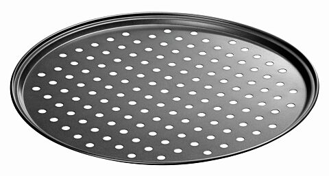 Pizza-Backblech 290-R, gelocht Durchmesser: 290 mm-Gastro-Germany