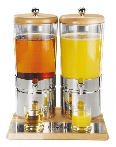 "Saftdispenser WOOD DUO ""TOP FRESH"", 2x 6 Liter-Gastro-Germany"