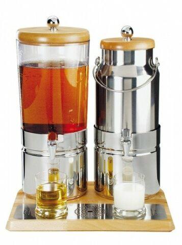 Saft-und Milchdispenser WOOD DUO TOP FRESH, 6+5 Liter-Gastro-Germany