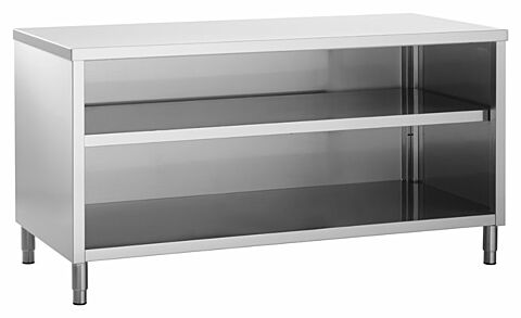 Edelstahl Arbeitsschrank ECO offen, 1600x700x850mm-Gastro-Germany