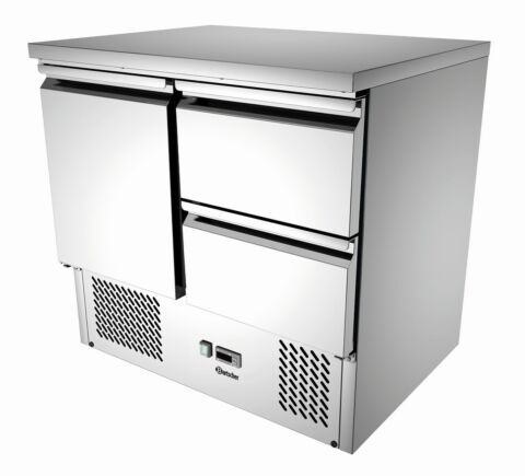 Bartscher Mini-Kühltisch 900T1S2, 260 Liter, 230 V -Gastro-Germany