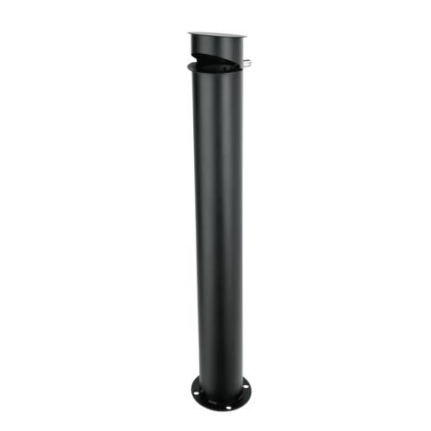 Standascher, Ø 12 cm, pulverbeschichteter Stahl schwarz-Gastro-Germany