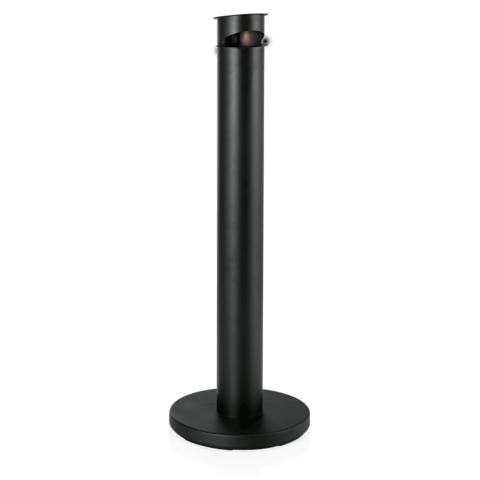 Standascher, Ø 13 cm, pulverbeschichteter Stahl schwarz-Gastro-Germany