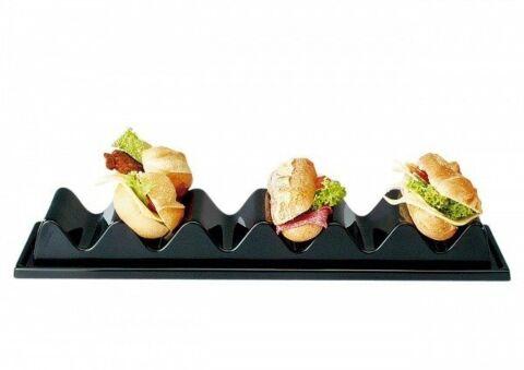 Snackablage Snackpresenter mit 4 Fächern, Länge 33 cm-Gastro-Germany