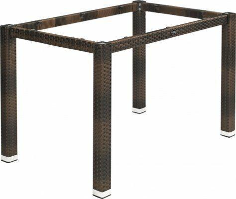 Lounge Tischgestell LINA für 120x80 cm Platten, burned-Gastro-Germany