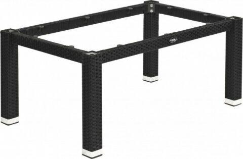 Lounge Tischgestell LINA für 120x80 cm Platten, Seagrass-Optik in schwarz-Gastro-Germany