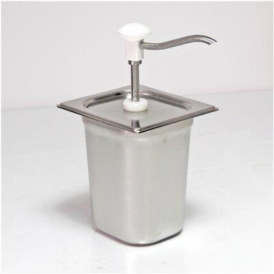 Saucenspender 3 Liter aus Edelstahl mit Druckkonpf und 1 GN-Behälter von Schneider-Gastro-Germany