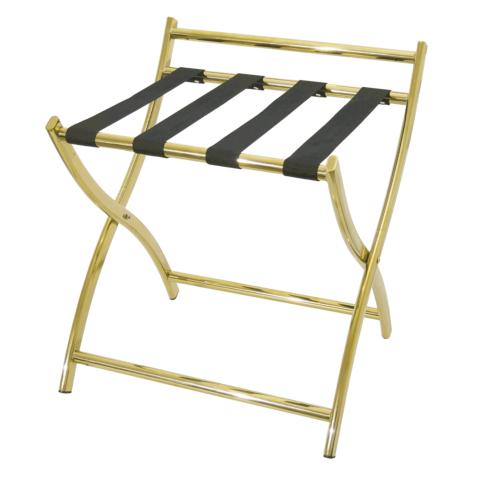 Gepäckablage mit Wandschutz, 50 x 48 x 54 cm,goldfarben, Chromnickelstahl-Gastro-Germany