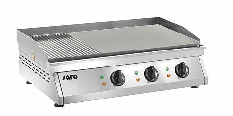 SARO Griddleplatte (gerillt + glatt) FRY TOP GH 760 R-Gastro-Germany