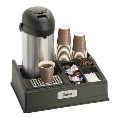 Bartscher Kaffeestation geeignet für 1 Isolierpumpkanne-Gastro-Germany