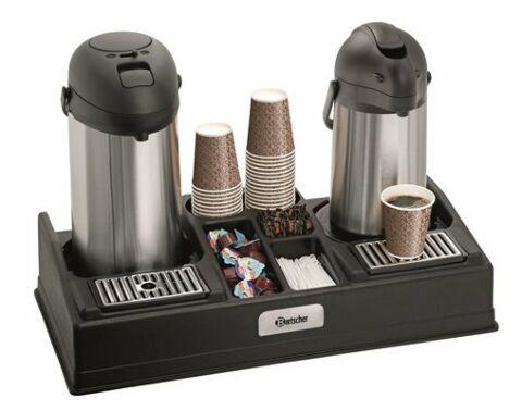 Bartscher Doppelte Kaffeestation geeignet für 2 Isolierpumpkannen-Gastro-Germany