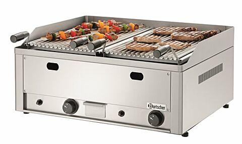 Gas-Lavastein-Tischgrillgerät 70, mit Grillrost für Fleisch, B 660 x T 570mm-Gastro-Germany