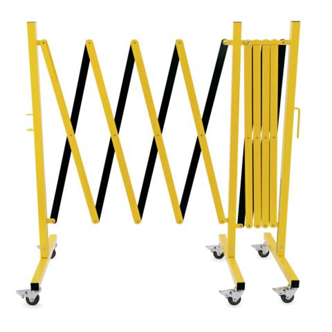 Scherensperre mit 6 Rollen, bis 4 m, gelb/schwarz, Aluminium-Gastro-Germany