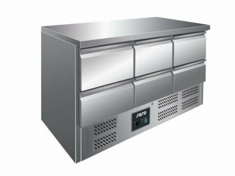 SARO Kühltisch mit Schubladen VIVIA S 903 S/S TOP - 6 x 1/2 GN-Gastro-Germany