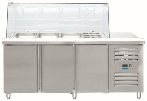 SARO Saladette mit Glasaufsatz GN 3100 TNS-Gastro-Germany