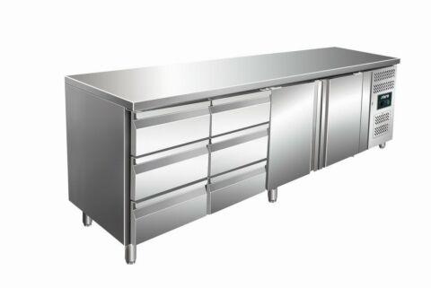 SARO Kühltisch inkl. 2 x 3er Schubladenset KYLJA 4150 TN-Gastro-Germany