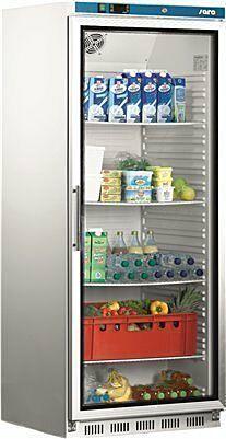 SARO Lagerkühlschrank mit Glastür - weiß HK 600 GD-Gastro-Germany