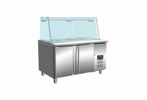 SARO Saladette mit Glasaufsatz SG 2070-Gastro-Germany