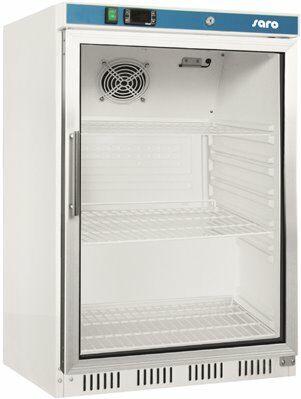 SARO Lagerkühlschrank mit Glastür - weiß HK 200 GD-Gastro-Germany