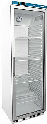 SARO Lagerkühlschrank mit Glastür - weiß HK 400 GD-Gastro-Germany