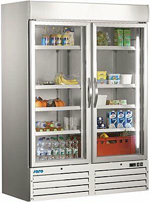 SARO Kühlschrank mit Glastür, 2-türig - weiß G 920-Gastro-Germany