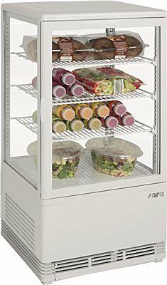 SARO Mini-Umluftkühlvitrine SC 70 weiß-Gastro-Germany