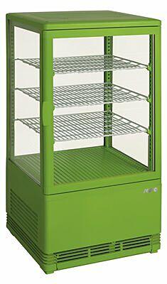 SARO Mini-Umluftkühlvitrine SC 70 grün-Gastro-Germany