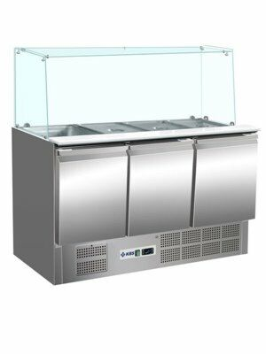 Saladette KBS 904, 1365x700x1375 mm, 4x GN 1/1-Gastro-Germany