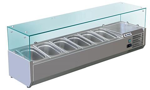 Kühlaufsatz RX 1500, 1500x395x430 mm, für 6x GN 1/3-Gastro-Germany