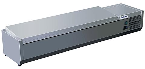 Kühlaufsatz RX 1510 mit CNS Deckel, 1500x395x280 mm, 6x GN 1/3-Gastro-Germany