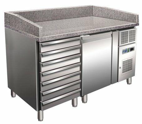 Pizzakühltisch 1610, 1515x800x1000 mm inkl. Aufkantung EEK C-Gastro-Germany