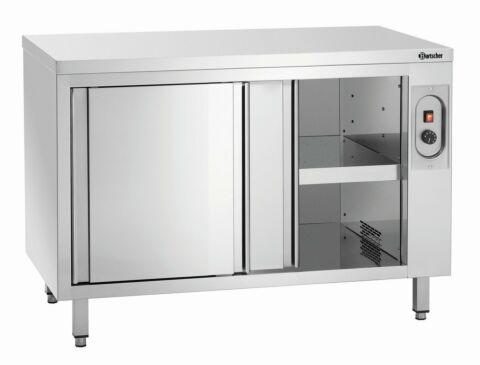 Wärmeschrank mit Schiebetüren und Zwischenboden Breite 1200mm-Gastro-Germany