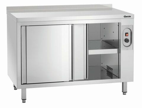 Wärmeschrank mit Schiebetüren und Zwischenboden, B1200mm, mit Aufkantung-Gastro-Germany