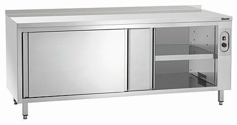 Wärmeschrank mit Schiebetüren und Zwischenboden, Breite 2000 mit Aufkantung-Gastro-Germany
