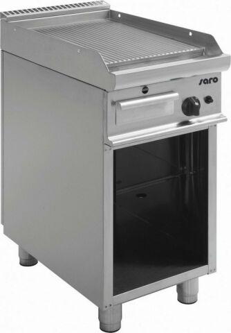 SARO Gas-Griddleplatte mit offenem Unterbau E7/KTG1BAR-Gastro-Germany