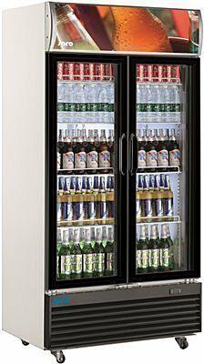 SARO Getränkekühlschrank mit Werbetafel - 2-türig GTK 800-Gastro-Germany