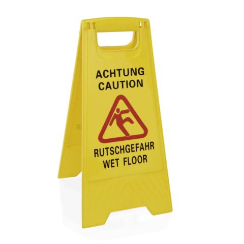 Aufsteller Achtung Rutschgefahr, 42 x 30 x 60 cm, Kunststoff gelb-Gastro-Germany