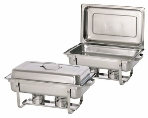 2x Chafing Dish, 1/1GN, Twin Pack Set-Gastro-Germany