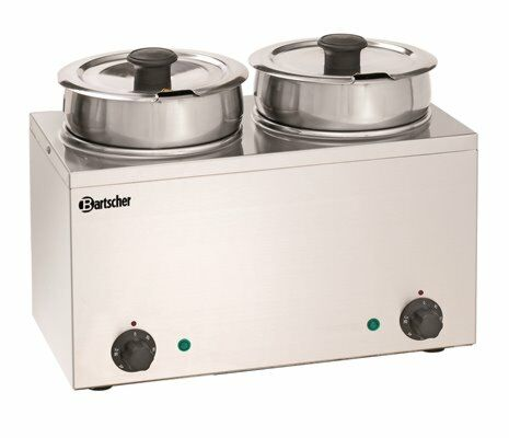 Bain-Marie Hotpot 2 Einsatztöpfe à 3,5 Liter-Gastro-Germany