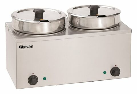 Bartscher Bain-Marie Hotpot 2 Einsatztöpfe à 6,5 Liter-Gastro-Germany
