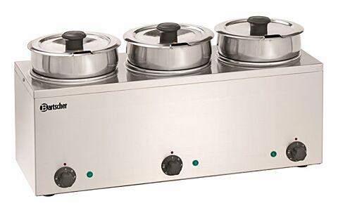 Bartscher Bain-Marie Hotpot 3 Einsatztöpfe à 3,5 Liter-Gastro-Germany
