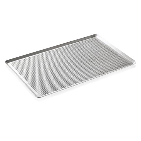 Backblech, Perforierung 3 mm, 60 x 40 x 2 cm, Aluminium-Gastro-Germany