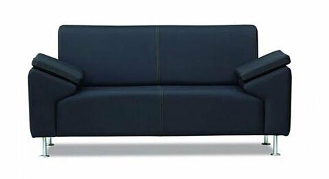 TREND Sofa 2 Sitzer Schwarz-Gastro-Germany