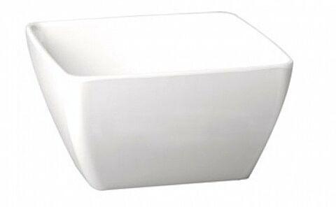 Melamin Schale quadratisch Weiß Höhe 12 cm-Gastro-Germany