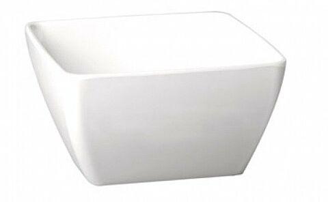 Melamin Schale quadratisch Weiß Höhe 6,5 cm-Gastro-Germany