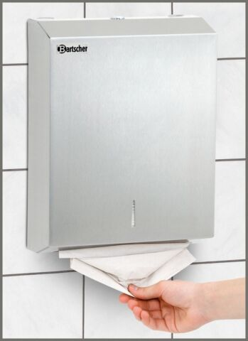 Bartscher Papiertuchspender für Wandmontage, B 285 x T 100 x H 370 mm-Gastro-Germany
