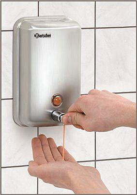 Bartscher Seifenspender für Wandmontage Chromnickelstahl 1 Liter-Gastro-Germany