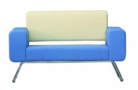 LEGEND Sofa 2 Sitzer Blau-Gastro-Germany